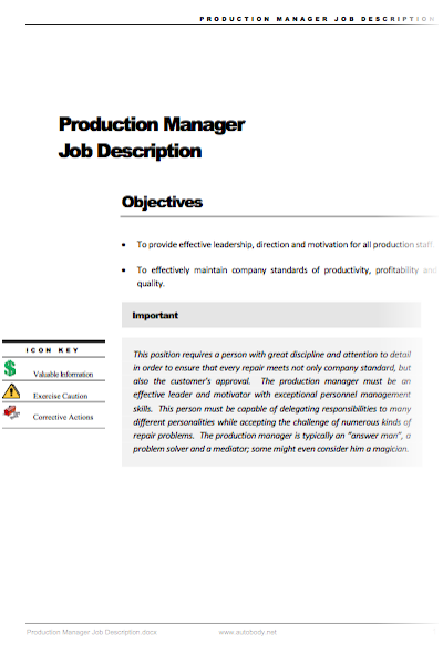 production manager job description  u2013 autobody net